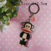Big mouth monkey cartoon 3d cute pvc keychain