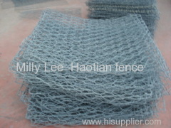 galfan stome walls basket High strength hexagonal gabion wire mesh gabion wire netting