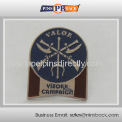 Metal die struck soft enamel lapel pin