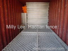 temporary chain link wire netting factory portable rhomic mesh fence panels mobile diamond panel fencing