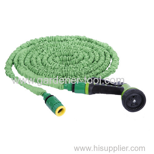 Garden Flexible Expandable hose With Plastic 7 pattern nozzle