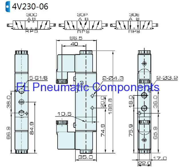 4V230C-06 Pneumatic Solenoid Valve