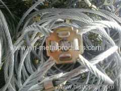 Side Slope Protective net hot dipped galvanized steel wire rope knot net system