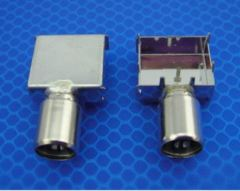 IEC connector with frame