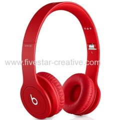 Beats Solo HD Drenched in Red On-Ear Headphones Monochromatic Red