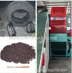 Easy Controlled Tyre Crusher For Recycling Line