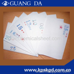 Thermo chemical sheet