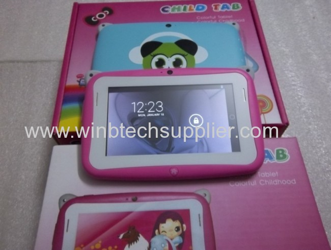 Kid Tablet PC HD 480x272 512 4G Storage , Rockchip2928 single Core Dual Cameras Educational Children Games & Apps