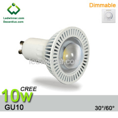 dimmable gu10 led spot light CREE XB-D