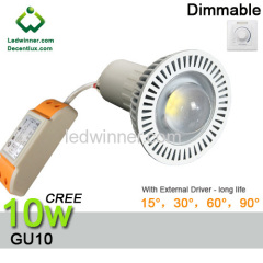 led gu10 dimmable Spotlight 10w