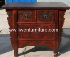 old carving Chinese cabinet