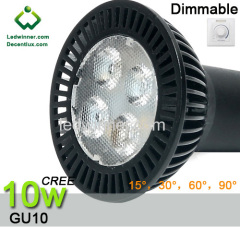 led gu10 dimmable spotlight 15° CREE 10w