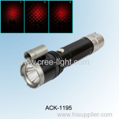 Multi Function 5W High Power CREE XPE R2 Aluminum Flashlight With Red Laser ACK-1195