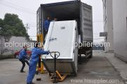powder coating oven exported to russia