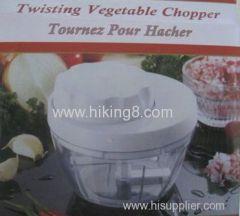 Kitchen Manual Twist Chopper multifunctional hand vegetable/fruit Speedy Chopper POWER FREE