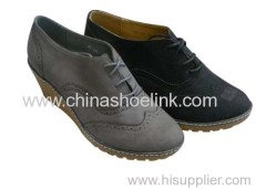 Pump shoe,wedge shoe,lady shoe with heel
