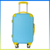 2014 fashion trolley coded lock blue ABS luggage set