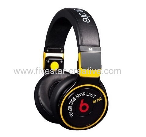 casque beats by dr dre high performance pro detox monster for music fans headphones black yellow. Black Bedroom Furniture Sets. Home Design Ideas