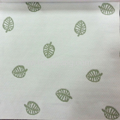 soft knitted mattress fabric jacquard leaf pattern