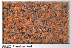 Red granite tiles tian shan red