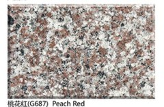 China pink granite G687 peach red