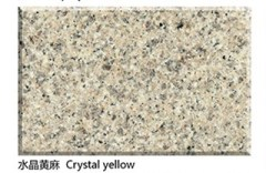 Polished crystal yellow granite countertops