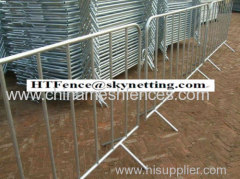 crowd control barricede with fixed feet crowd control barrier crowd control fence traffic control barricade