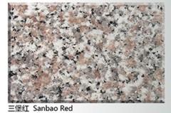 Chinese San Bao Red Granite Slab