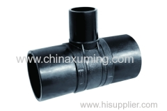 HDPE Butt Fusion Injection Reducing Tee Pipe Fittings