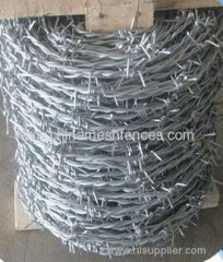 BWG13*14 barbed wire electro-galvanized barbed wire barbed wire fence barbed wire fencing