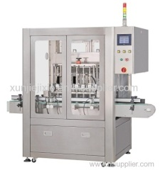 Linear Automatic Glass Bottle Caster Oil Filling Machine(2014 Low maintenance rate )