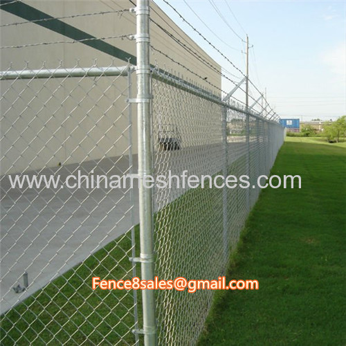 4.5mm galvanized wire 7gauge 50mm by 50mm aperture chain link fence mesh