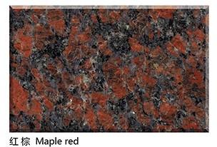Natural Polished Maple Red Granite Slab