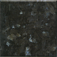 Polished granite slab blue pearl
