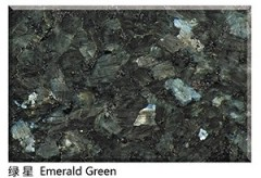 Emerald green granite slabs