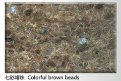 Natural Colorful brown beads Granite