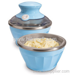 mini electric soft ice cream bowls maker