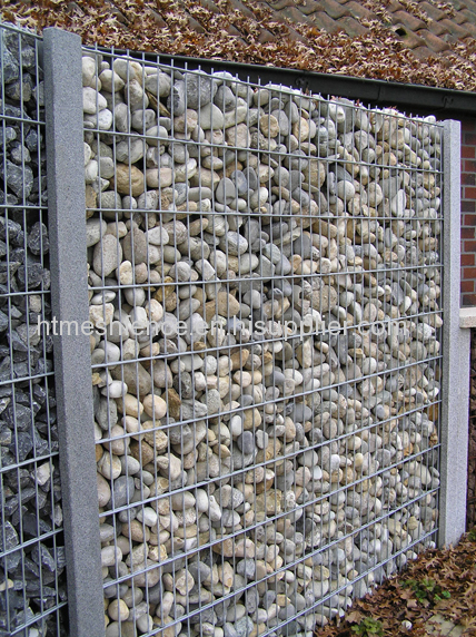 Galfan Welded Mesh Stone Net Wall Welded Stone Cage Wall