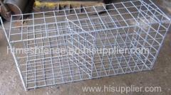 Zinc-aluminium coated stone cage net