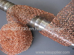2014 hot sales!Knitted copper wire mesh protecting cable