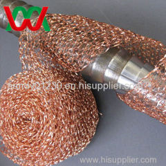 EMI shielding knitted copper wire mesh(ISO9001:2000)