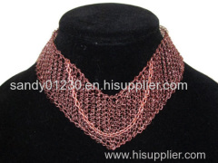 knitted copper wire mesh for decorative elements