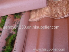 2014 hot sales! knitted copper mesh for roof cleaning mesh