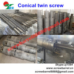 twin conical screws barrels