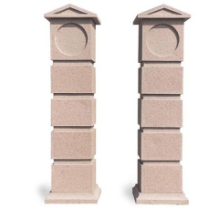 Outdoor natural granite stone pillar