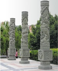 Stone Carving round granite column