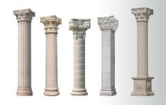 hollow Roman round granite column