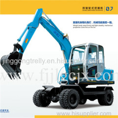 Hot selling 6t Mini Double Drive Wheel Excavator, Dual Wheel Excavator
