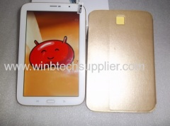gold white color 8inch quad core 3g sim card slot phone call voice call tablet pc