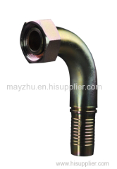 90 degree Metric Female Flat Seat Swaged hose fitting REF .GB/T 9065.3